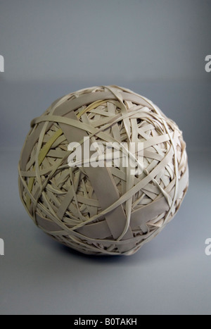 A ball made up of rubber bands - Stock Photo