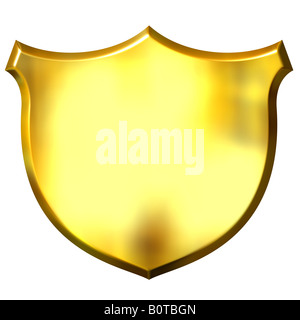 3d golden sign - Stock Photo