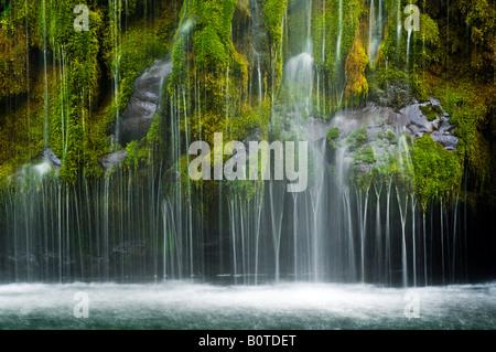 Mossbrae Falls along the Sacramento River near Dunsmuir Siskiyou County California - Stock Photo