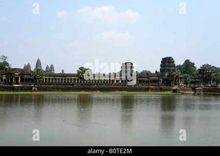The huge moat around Angkor Wat temple near Siem Reap Cambodia - Stock Photo