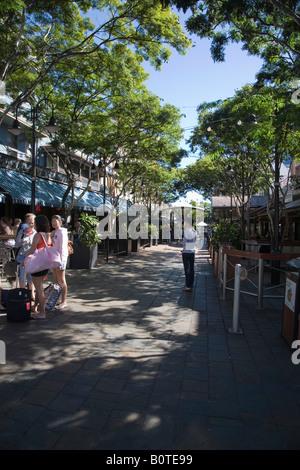 Brunswick Street, Fortitude Valley, Brisbane, Australia - Stock Photo