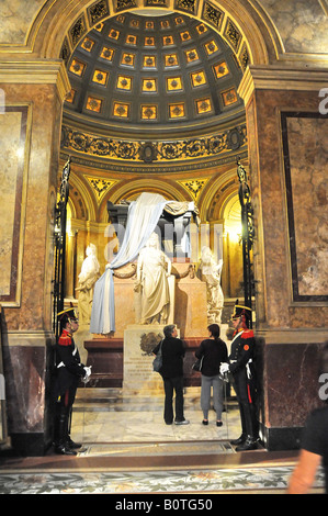 Tomb of General San Martin, Buenos Aires Cathedral, Argentina, South America - Stock Photo