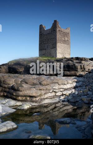 o'dowd roslea roslee castle home of the ODowd chieftains built in 1207 easkey county sligo republic of ireland - Stock Photo