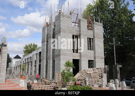 Building under construction,Tigre delta, Argentina - Stock Photo