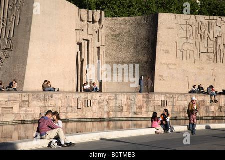 Colon Square, Madrid, Spain - Stock Photo