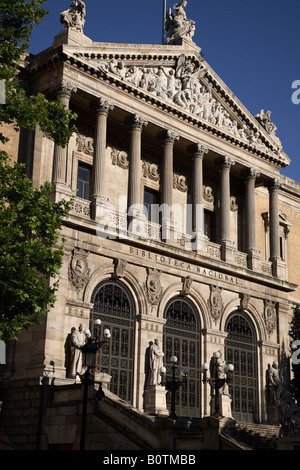 National Library, Madrid, Spain - Stock Photo
