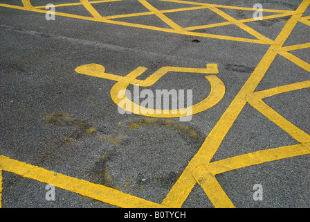 A Disabled Driver Parking Bay - Stock Photo