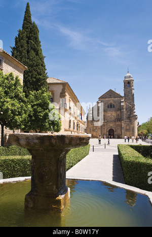 Ubeda Jaen Province Spain Capilla de El Salvador in Plaza Vázquez de Molina - Stock Photo