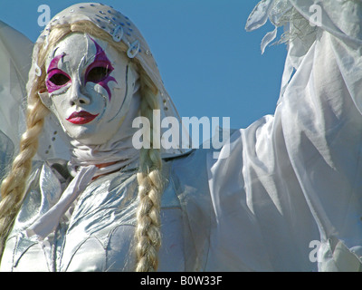 A Living Statue, in the streets of Amsterdam, the Netherlands - Stock Photo