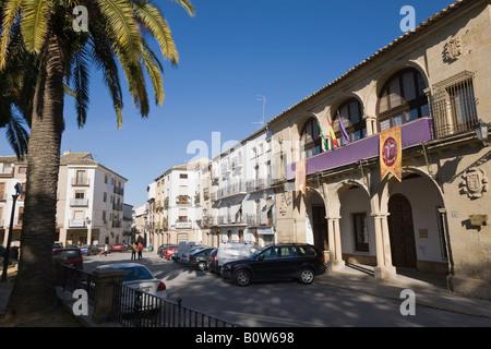Baeza Jaen Province Spain Casas Consistoriales Bajas and Balcón de Concejo - Stock Photo