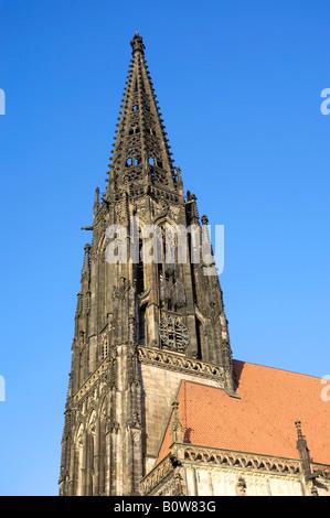 St. Lamberti Church, Muenster, North Rhine-Westphalia, Germany, Europe - Stock Photo
