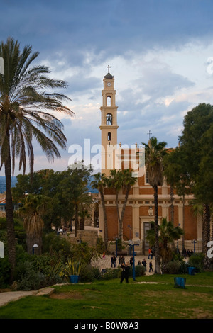 St Peter's Church, Jaffa, Tel Aviv, Israel, Middle East - Stock Photo