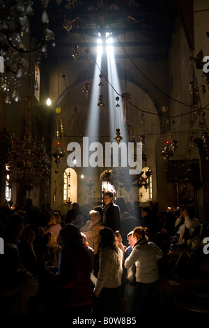 Church of the Nativity, Bethlehem city centre, West Bank, Palestine, Israel, Middle East - Stock Photo
