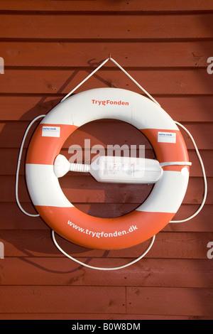 Lifesaver, life ring, preserver, Marinaminde, Denmark - Stock Photo