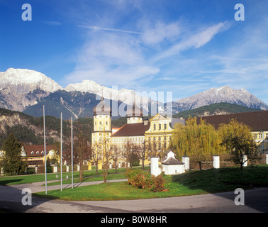 Cistercian abbey, Stams, Tyrol, Austria, Europe - Stock Photo