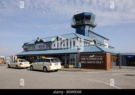 Sylt Airport, Sylt, North Frisian island, Schleswig-Holstein, Germany, Europe - Stock Photo