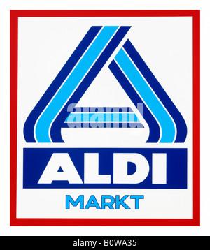 Aldi logo, discount grocery or supermarket chain