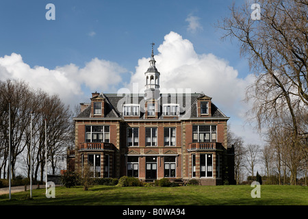 Old mansion in a park, Middelburg, Walcheren, Zeeland, Netherlands - Stock Photo