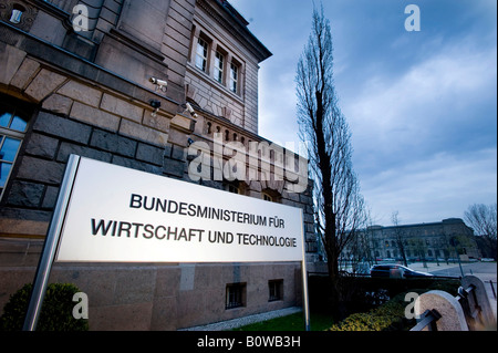 Federal Ministry of Economics and Technology, Berlin, Germany - Stock Photo