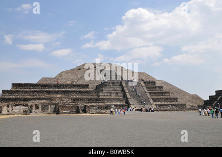 Pyramid of the Moon, Plaza de la Luna, Teotihuacan, Mexico, North America - Stock Photo