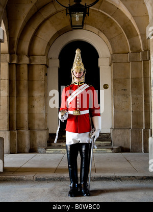 Soldier From The Queens Royal Houseguards Lifeguards Cavalry Whitehall London UK Europe - Stock Photo