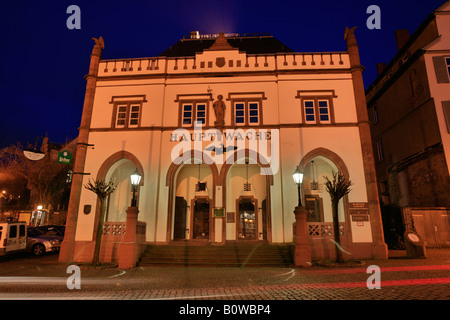 The Hauptwache or main guard building at the Domplatz or Cathedral Square in Wetzlar, Hesse, Germany - Stock Photo