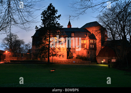 Castle buildings of the Oberes Schloss or Upper Castle of the Nassau-Siegen Earls, Siegen, North Rhine-Westphalia, - Stock Photo