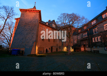 Castle buildings of the upper palace of the Earls of Nassau-Siegen, Siegen, North Rhine-Westphalia, Germany - Stock Photo