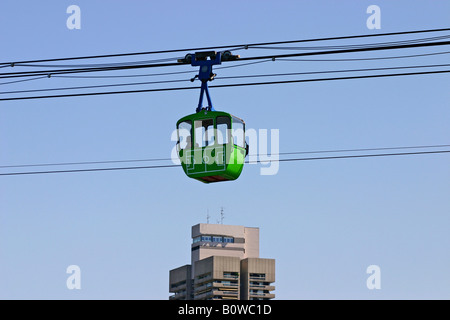 Cable car over the Rhine River, Cologne, North Rhine-Westphalia, Germany - Stock Photo