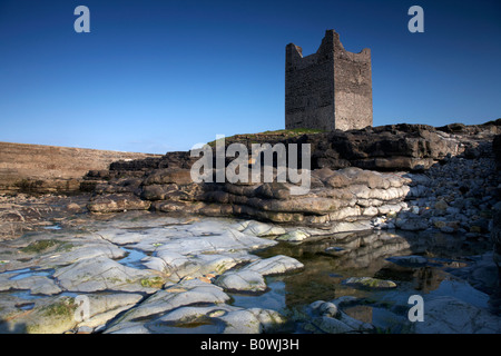 o'dowd roslea roslee castle home of the ODowd chieftains built in 1207 easkey county sligo republic of ireland - Stock Photo