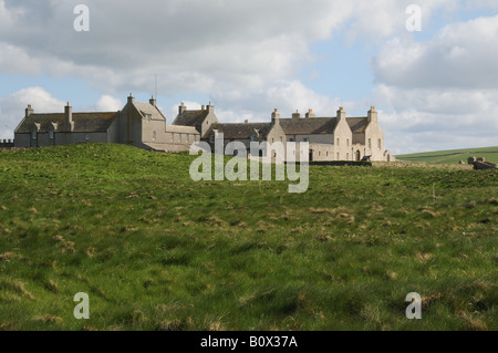 Skaill House on mainland Orkney facing the Bay of Skaill was built in stages beginning in 1620. - Stock Photo