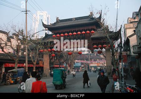 gate to Old Town Nanshi, China, Shanghai - Stock Photo
