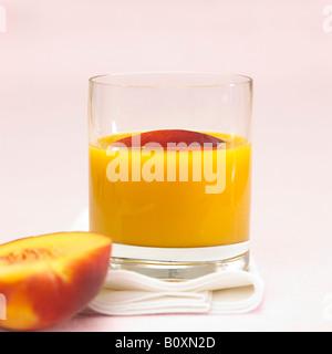 Peach juice - Stock Photo