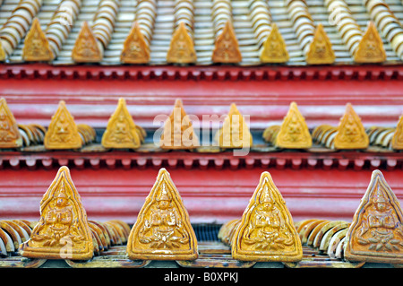 roof decoration of the marble temple (Wat Benchamabophit), Thailand, Bangkok - Stock Photo