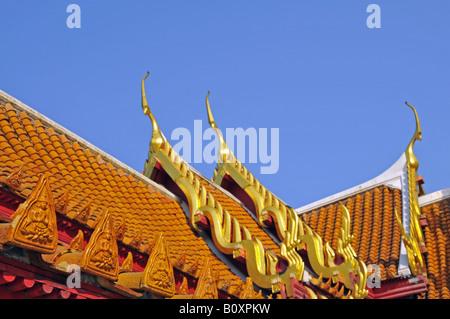 roof of the marble temple (Wat Benchamabophit), Thailand, Bangkok - Stock Photo