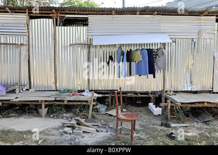shanties of migrant worker, Thailand - Stock Photo