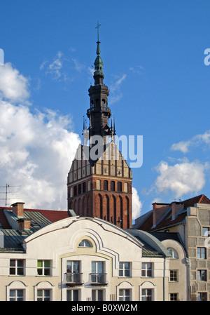 St. Nikolai church in the old town, Poland, Elblag Elbing - Stock Photo