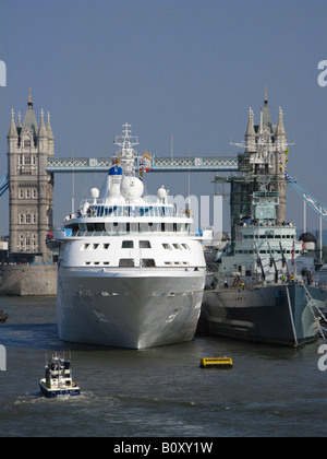 Hms Belfast Moored In The Pool Of London At Southwark