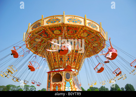 Chair Swing Fairground Ride At Royal Windsor Horse Show Home Park Berkshire