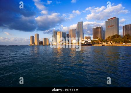 Miami skyline, Miami Florida, USA - Stock Photo