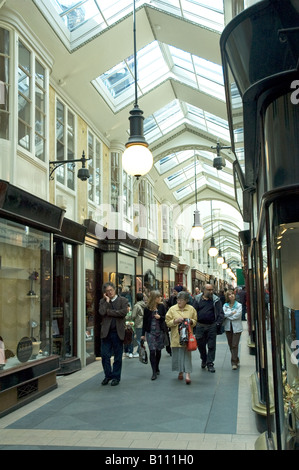 Shoppers in Burlington Arcade Piccadilly London UK - Stock Photo