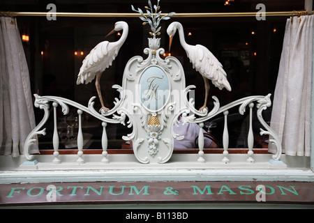 UK Britain England London Picadilly Fortnum Mason store window - Stock Photo