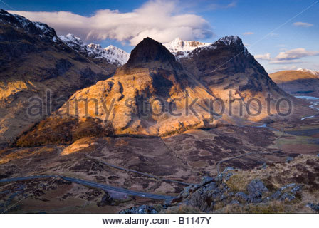 The Three Sisters of Glencoe, Highlands, Scotland, UK. - Stock Photo