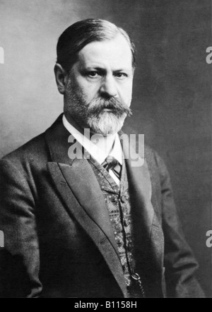 Sigmund Freud, 1856 - 1939, Austrian psychologist. - Stock Photo