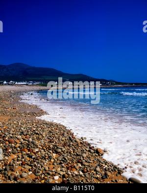 Achill Island, beach at Dooagh, Croaghaun Mountain, Ireland - Stock Photo