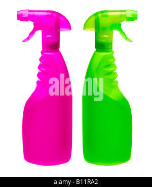 generic spray bottles put on your own label - Stock Photo