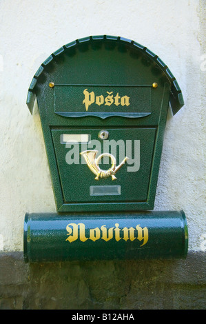 Postal box Czech Republic - Stock Photo