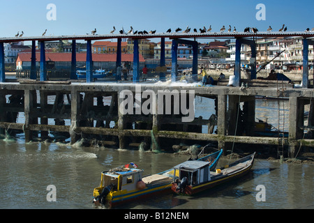 FISH MARKET QUAY CASCO VIEJO SANTA ANA PANAMA CITY REPUBLIC OF PANAMA - Stock Photo