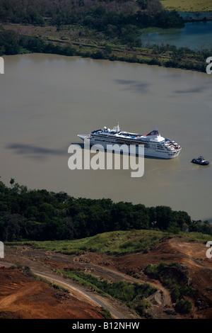 CRUISE SHIP CULEBRA GALLIARD CUT PANAMA CANAL REPUBLIC OF PANAMA - Stock Photo