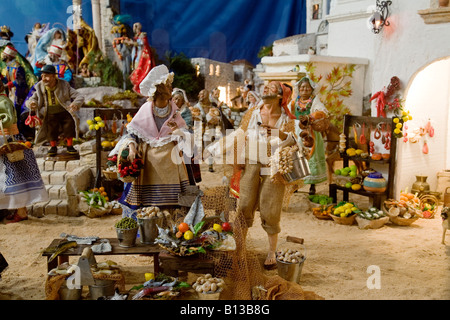 Belen scene of a traditional Christmas - Stock Photo